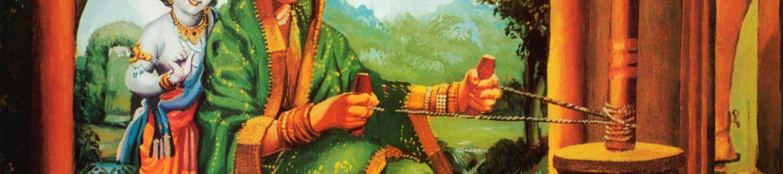 Krishna-as-Damodar-with-His-Mother-Yasoda-Churning-Butter
