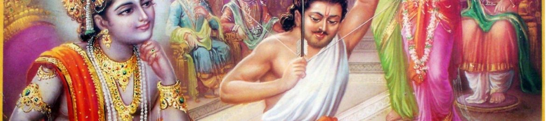 Krishna-watches-as-Arjuna-targets-fish